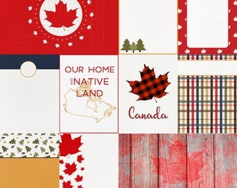 O Canada Journal Cards  - INSTANT DOWNLOAD