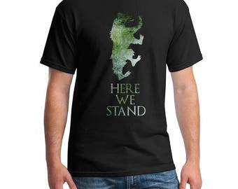 Game of Thrones, House of Mormont, Game of Thrones Tshirt, Here We Stand Mormont T-shirt, Got Fandom Shirt, Game of Thrones Shirt