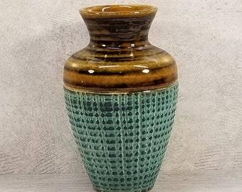 VTG 1960s-70s DUMLER & BREIDEN 181 Turquoise Vase West German Pottery Retro Midcentury Modern Fat Lava Era