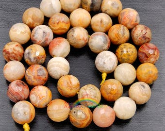 Natural Faceted Crazy Agate beads, Gemstone Beads, Round Natural Beads, Stone Spacer Beads, 6mm 8mm 10mm 12mm15''5 strend
