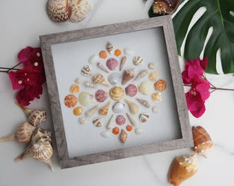 Miniatures // Modern Beach Themed Decor for Bedroom Bathroom Living Room or Nursery // Shadowbox by SanibelShellArt