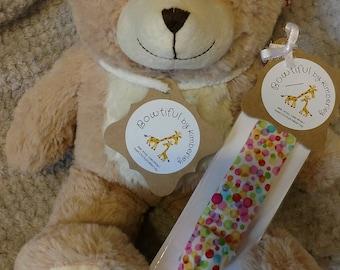 Polka Dot Headband with Elastic Back - Infant - Toddler - Baby Shower Gift - Birthday Gift