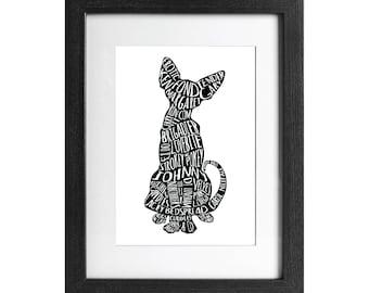 Tender Gary A4 print - UNSIGNED. Bob Mortimer's Twitter Cat Names