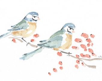 Bird Original Watercolor