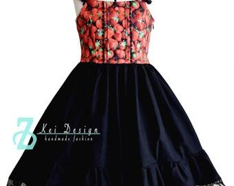 Sweet Summer Berry Lolita dress JSK