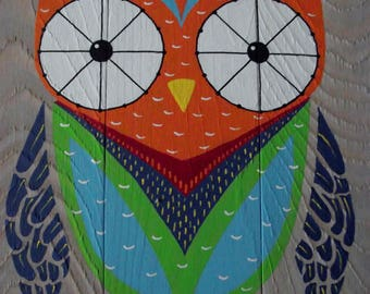 Owl Wall Hanging, Owl Art, Wooden Sign