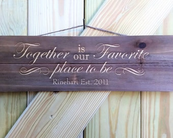 Family Wooden Hanging Sign