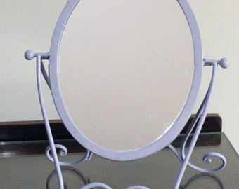 Lilac Metal Princess Mirror