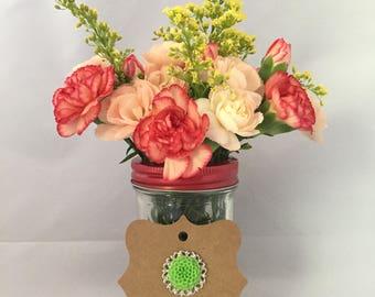 Medallion Chrysanthemum Pin Grassy Green