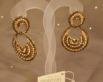Swarovski Glamour earrings - Dazzle 1925 gold & topaz