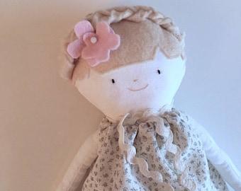 Daisy - handmade soft doll