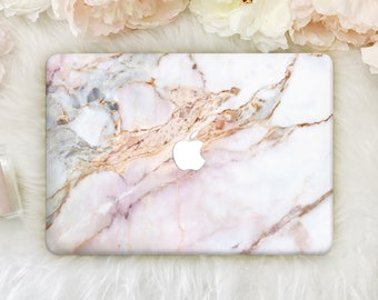 Stone Marble Macbook Pro 13 Hard Case Pro Retina 15 Case Macbook Air 11 Hard Laptop Cover Macbook Pink Marble Hard Case Personalized YZ2001