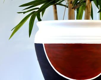 Hand Painted Clay Plant Pot - Home Decor
