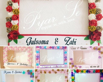 Floral selfie frame with personalisation