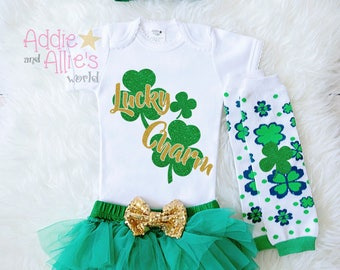 Baby Girl St Patricks Day Outfit, St Patrick's Day Outfit Baby Girl, My 1st St Patty's Day Bodysuit, Baby Girl First St Patricks Shirt, ST6