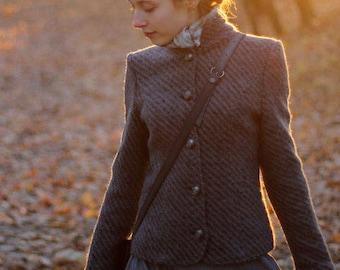 Wool coat-jacket Swan