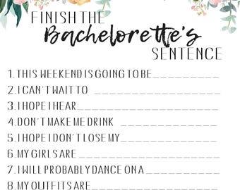 Finish The Bachelorette's Sentence Game