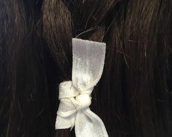 Set of 2 elastic ribbon hair tie