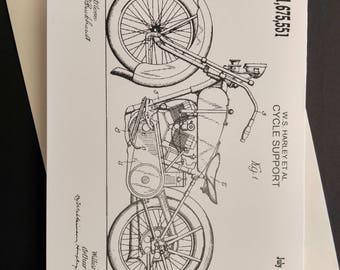1928 Harley Davidson Greeting Card