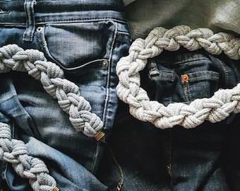 DENIM COLLECTION // upcycled denim // fiber necklaces //