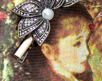 vintage antique hairclip accessories new beautiful floral stylish unique on trend fashion