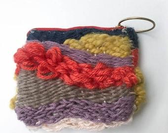 Handmade Woven Pouch With Zipper