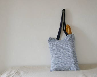 Floral Eco Tote Bag, Repurposed from Vintage Sheet