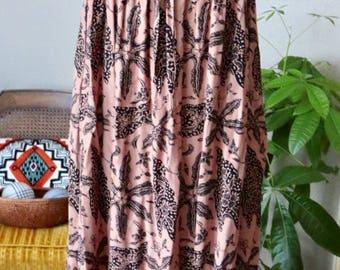 Vintage 80s Maxi Dress, Boho Maxi, Sun Dress