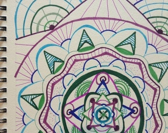 Zentangle Design - Cool Color Scheme