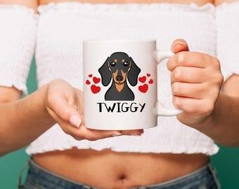 Custom dog mug, Dachshund mug, Dog mom gift, Dog mug, Personalized mug, dachshund, dachshund gift