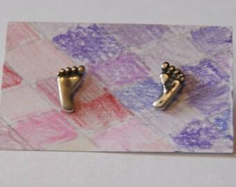 Vintage footprint earrings