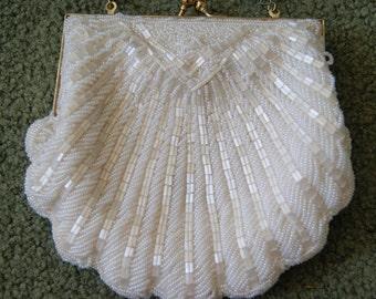 Beaded shell purse