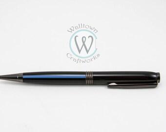 Thin Blue Line Trimline Twist Pen