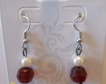 Red & White Holiday Earrings