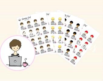 Aubrey is working! | Aubrey Planner Stickers