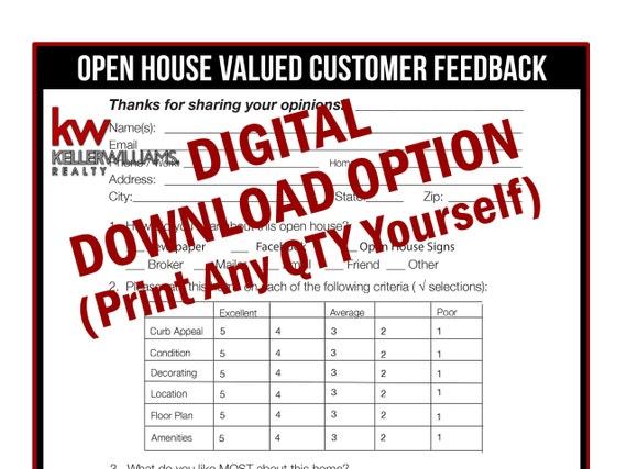 keller williams - real estate printable