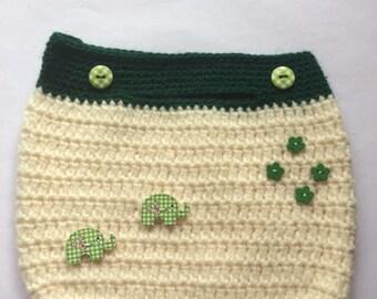 Woodland Green Crochet Handbag