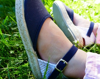Espadrilles with smell at the ankle in blue
