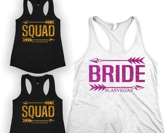 Bride squad Bridesmaids shirt, Bachelorette party shirt, bridal shirt, Bachelorette shirts, brides maid shirts, Bridesmaid gift