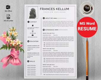 Resume template instant download, Professional resume template, Resume template word, Modern resume template, resume writing, CV template