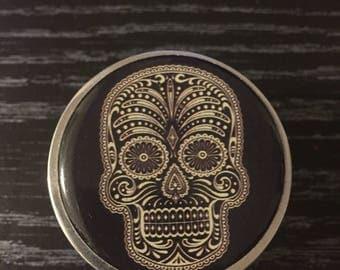 Small Sugar Skull Herb Grinder