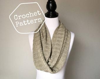 Crochet Pattern - Double Crochet Infinity Scarf - Instant PDF Download