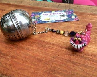 Cheshire Cat Tea Infuser, Handmade Porcelain Clay Tea Infuser