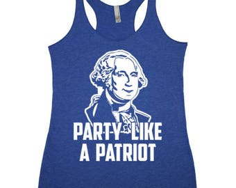 Party Like a Patriot TRi-Blend Racerback Tank Top