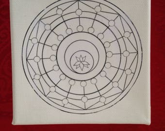Mandala Painting Canvas on 3D Chassis - DIY - 30x30 cm