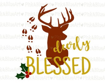 Deer SVG Christmas design Clipart Cut Files Silhouette Cameo Svg for Cricut and Vinyl File cutting Digital cuts file DXF Png Pdf Eps
