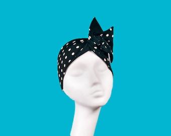 Headband, turban, glamour, polka dots, hair, accessories