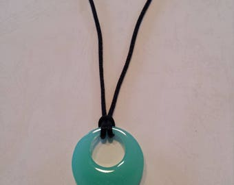 Ocean blue resin necklace