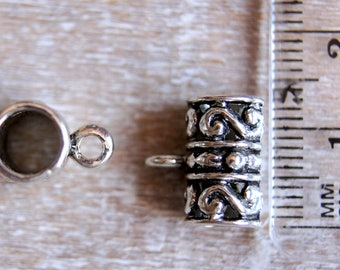 Celtic style silver metal bail