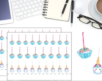 Unicorn Pop Planner Stickers,  Fantasy Cake Pop Lollipop Planner Stickers, Cute Stickers, Planner Accessory, Scrapbook Sticker